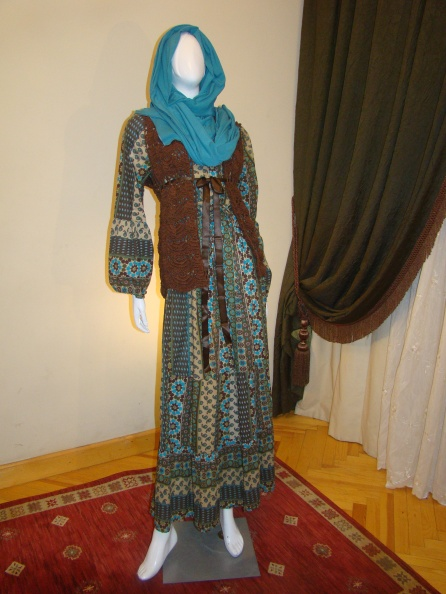 Colorful islamic-patterned dress
